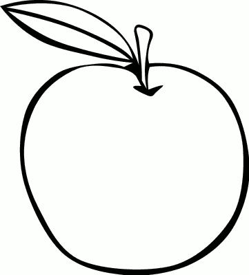 Apple Outline Clip Art.