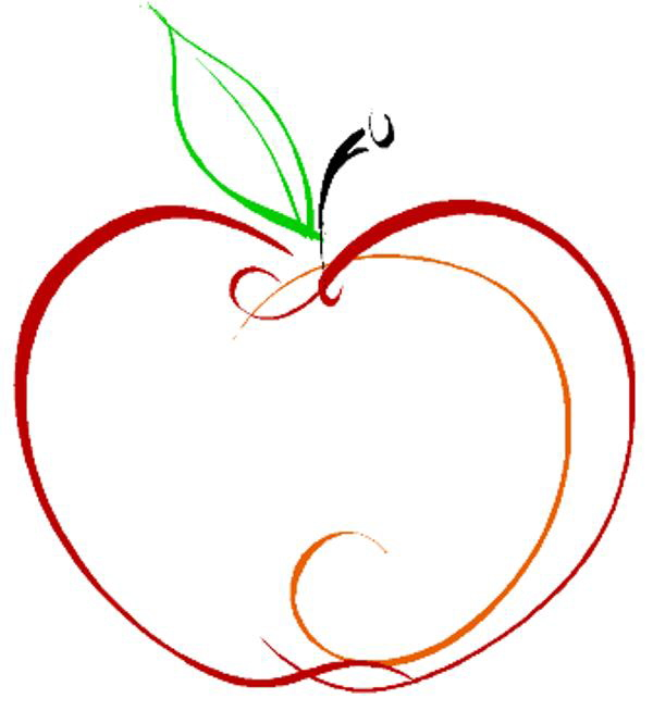 Apple Outline Clip Art & Apple Outline Clip Art Clip Art Images.