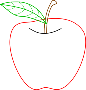 Colored Apple Outline Clip Art at Clker.com.