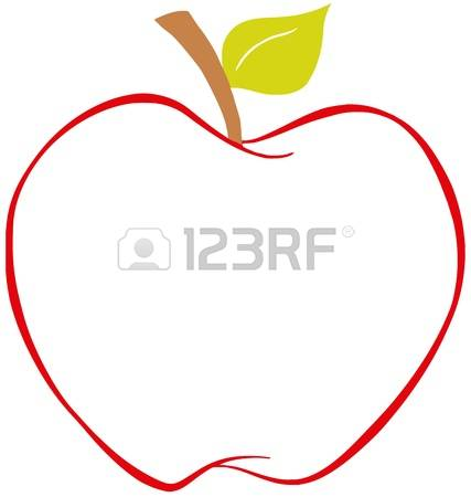 4,994 Apple Outline Stock Illustrations, Cliparts And Royalty Free.