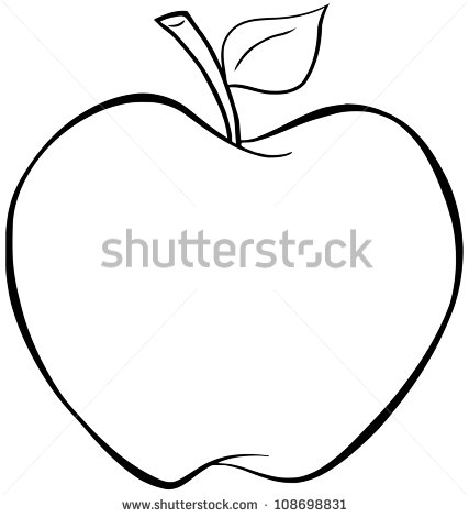Apple Outline Stock Images, Royalty.