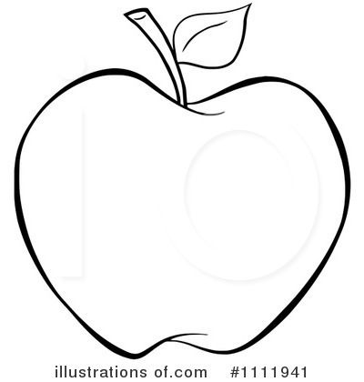 Apple outline clipart.