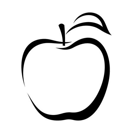 Apple Outline Free Download Clip Art.