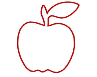 Free Apple Outline, Download Free Clip Art, Free Clip Art on.