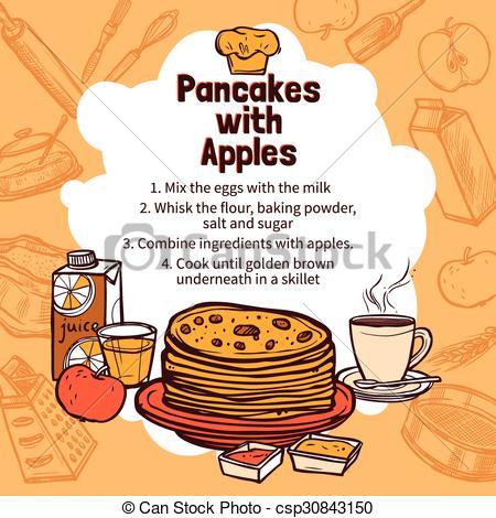 Apple pancakes clipart free.