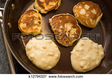 Picture of baking mini apple pancakes k12794337.
