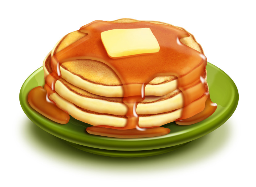 Apple pancakes clipart free.