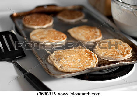 Stock Image of Apple Pancakes Cooking k3680815.