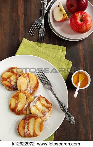 Stock Photo of Apple pancakes k12622972.