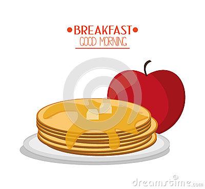 Apple Pancakes Stock Illustrations.