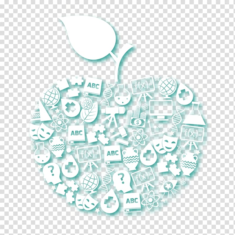 Organism Pattern, apple background for science and education.