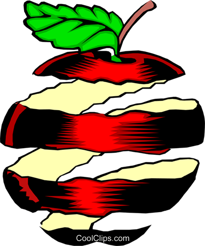 Apple peel Royalty Free Vector Clip Art illustration.