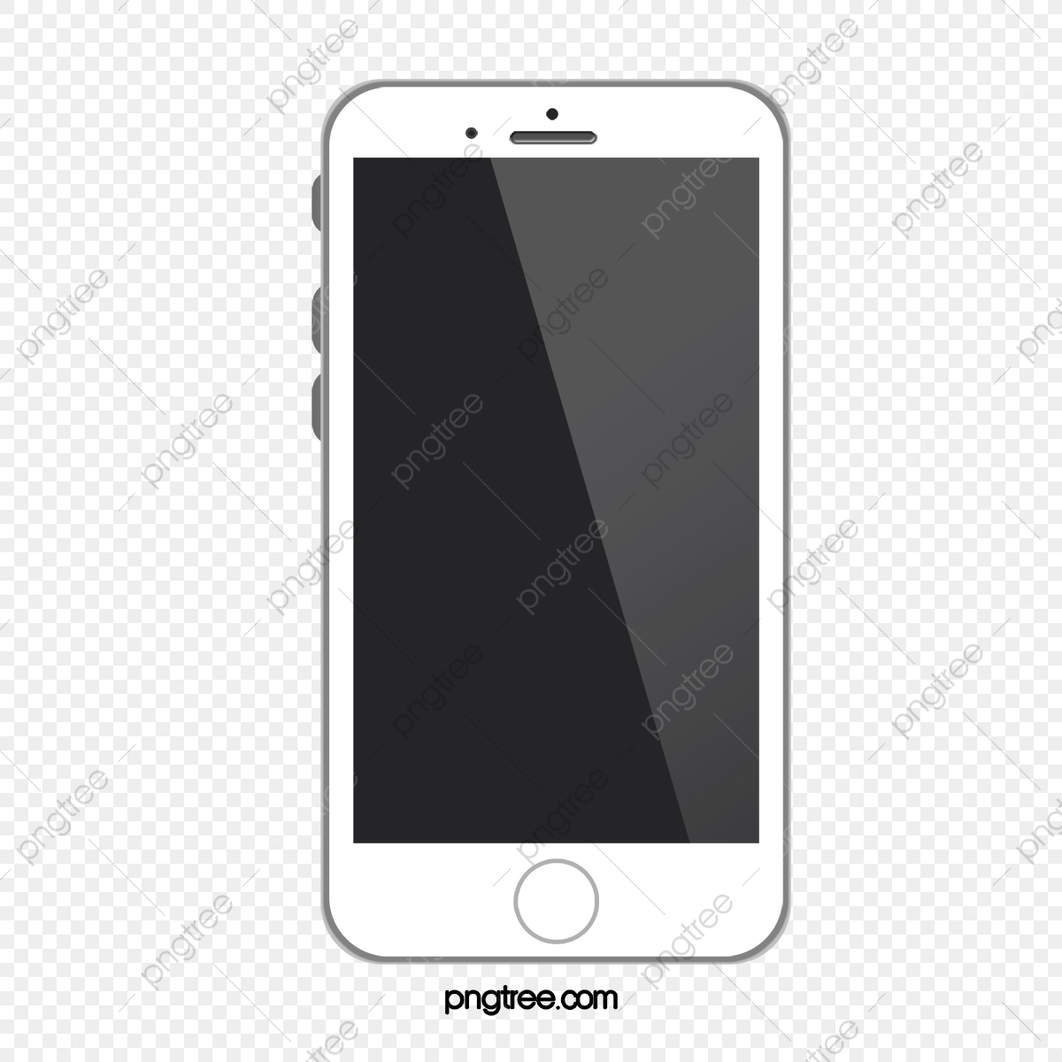White Phone Model, Vector Material, Iphone, White Apple Phone PNG.