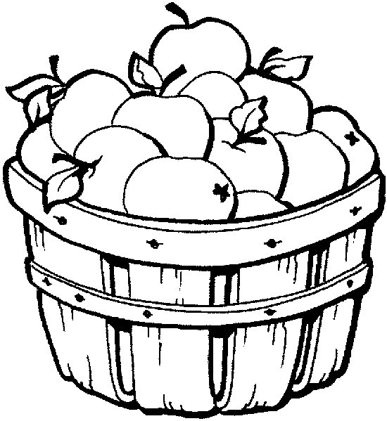 Apple Picking Clipart Black And White.