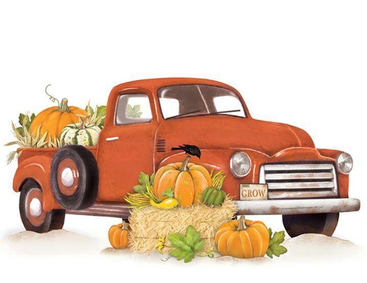Pumpkin Clipart truck 2.