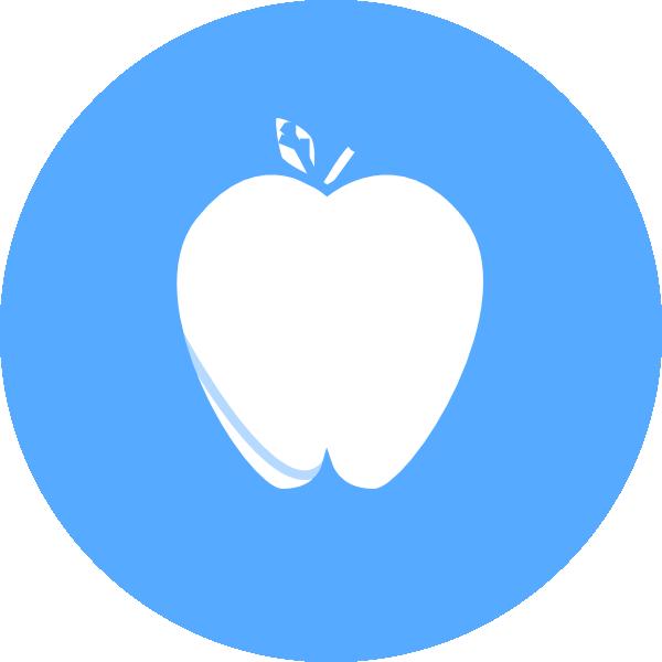 Blue Circle Apple PNG, SVG Clip art for Web.