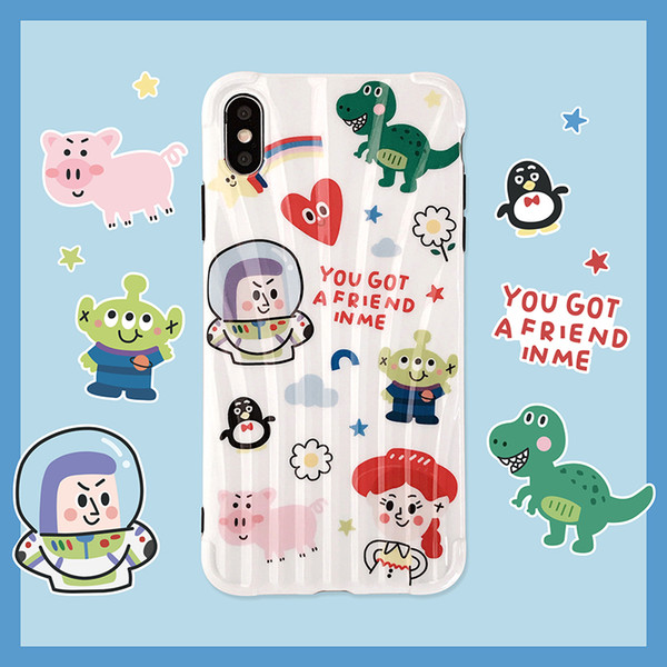 2018 For Iphone Xs Max X Xr Phone Case Cute Cartoon Doodle.