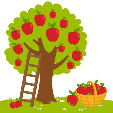 Apple Picking Clipart 1.