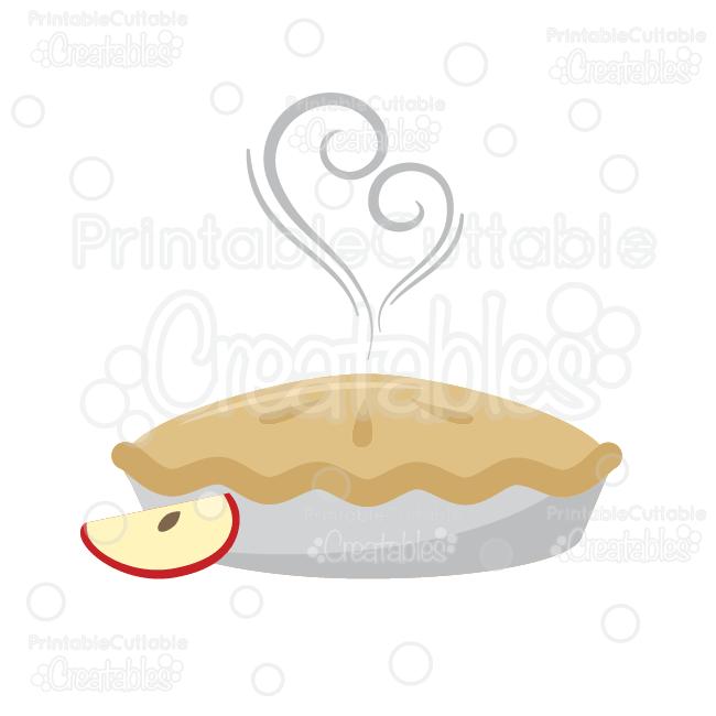 Yummy Apple Pie SVG Cut File & Clipart.