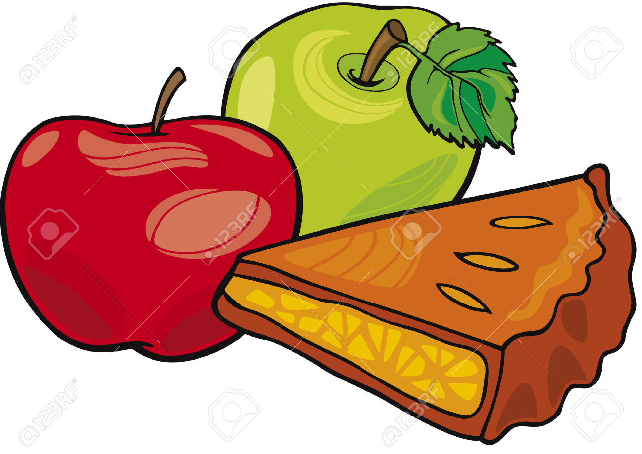 Apples and apple pie clipart.