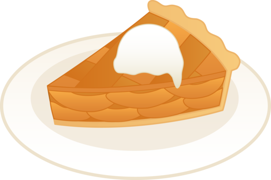 Apple pie slice clipart.
