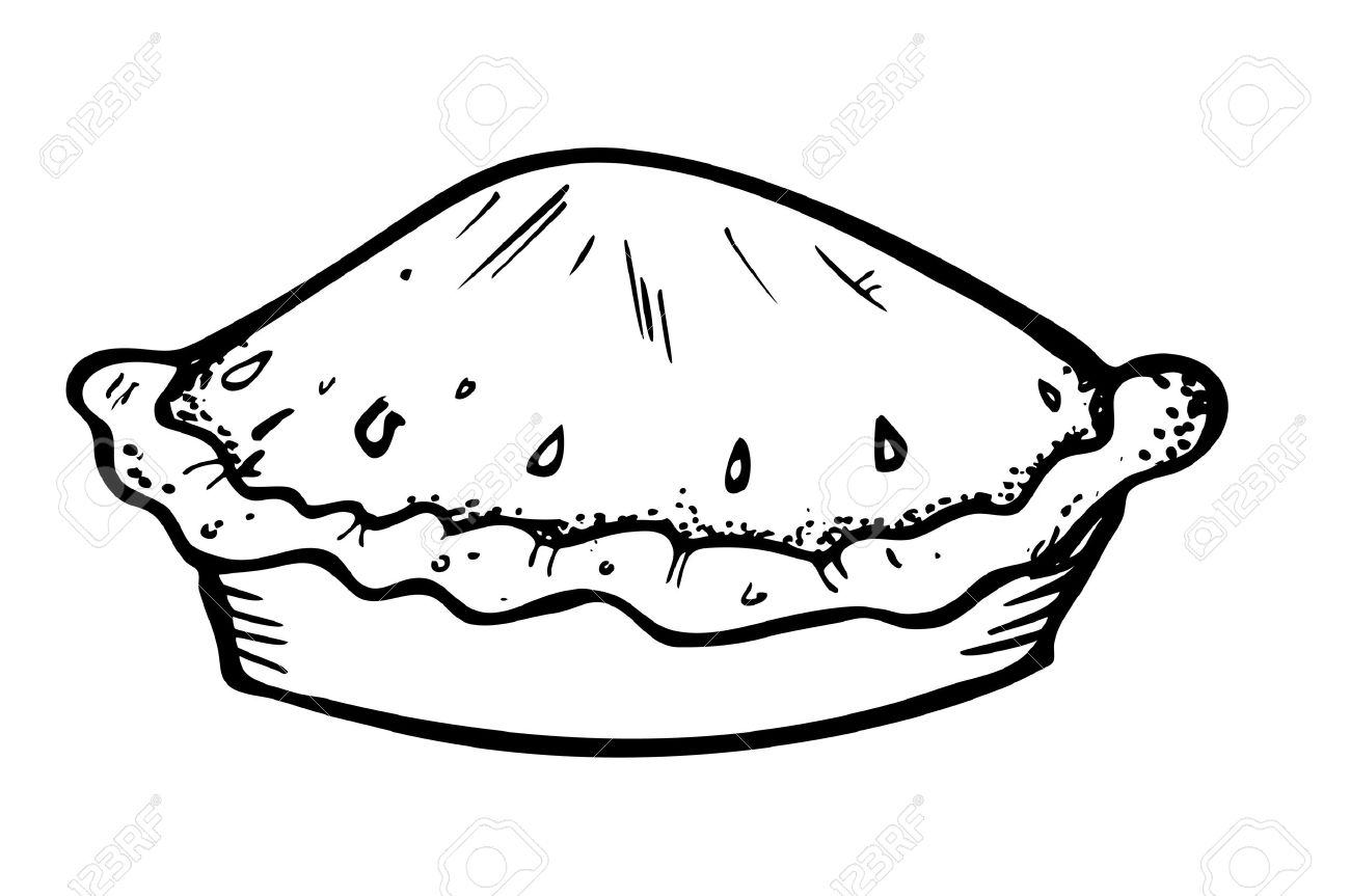 Pie Clipart Black And White.