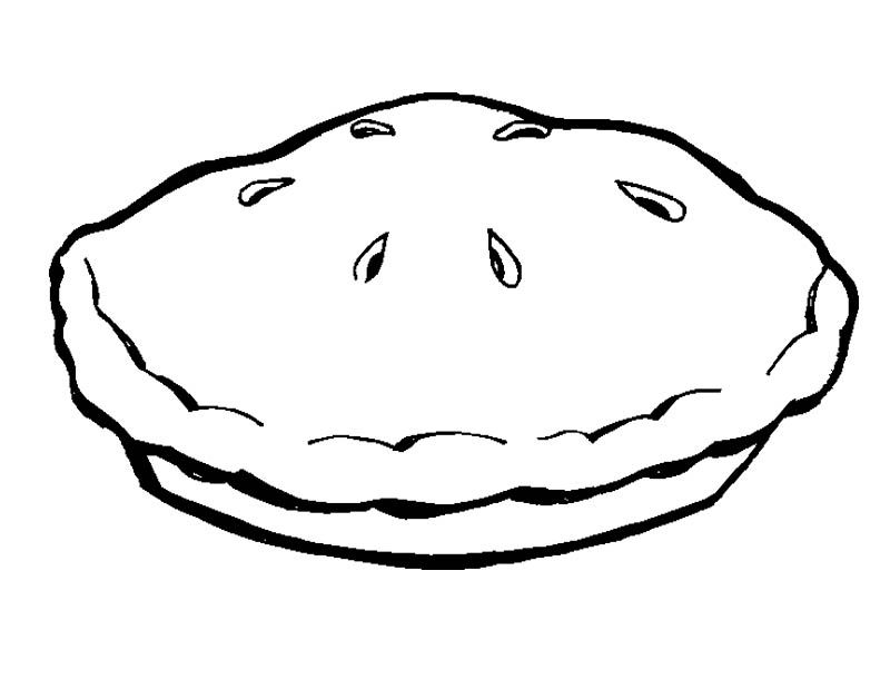 A Pie Pan Coloring Page.