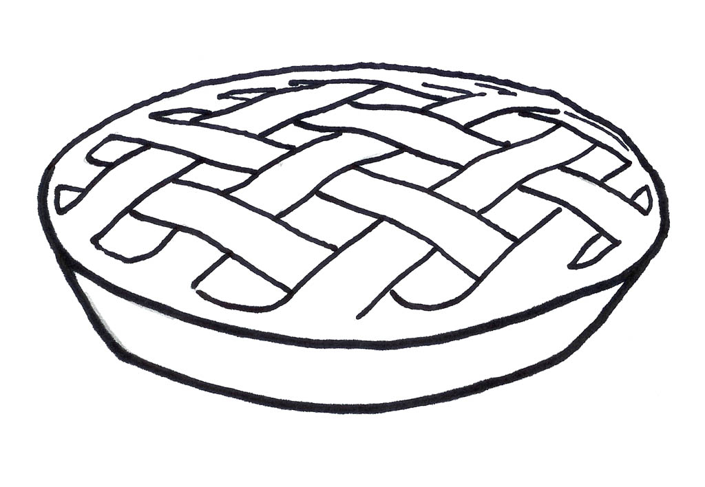 Pie Line Drawing at GetDrawings.com.