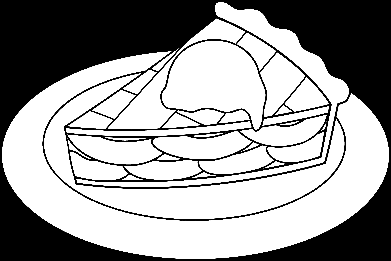 Apple Pie Line Art.
