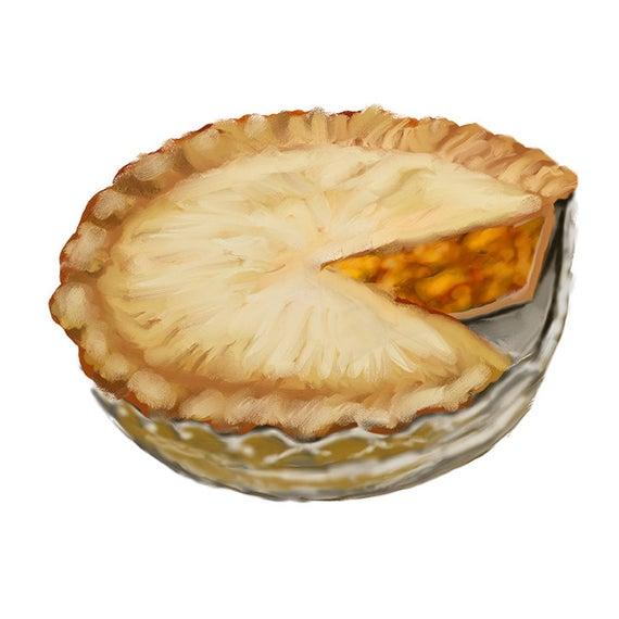 Cherry Pie Clipart, Apple Pie Clipart PNG, JPG.