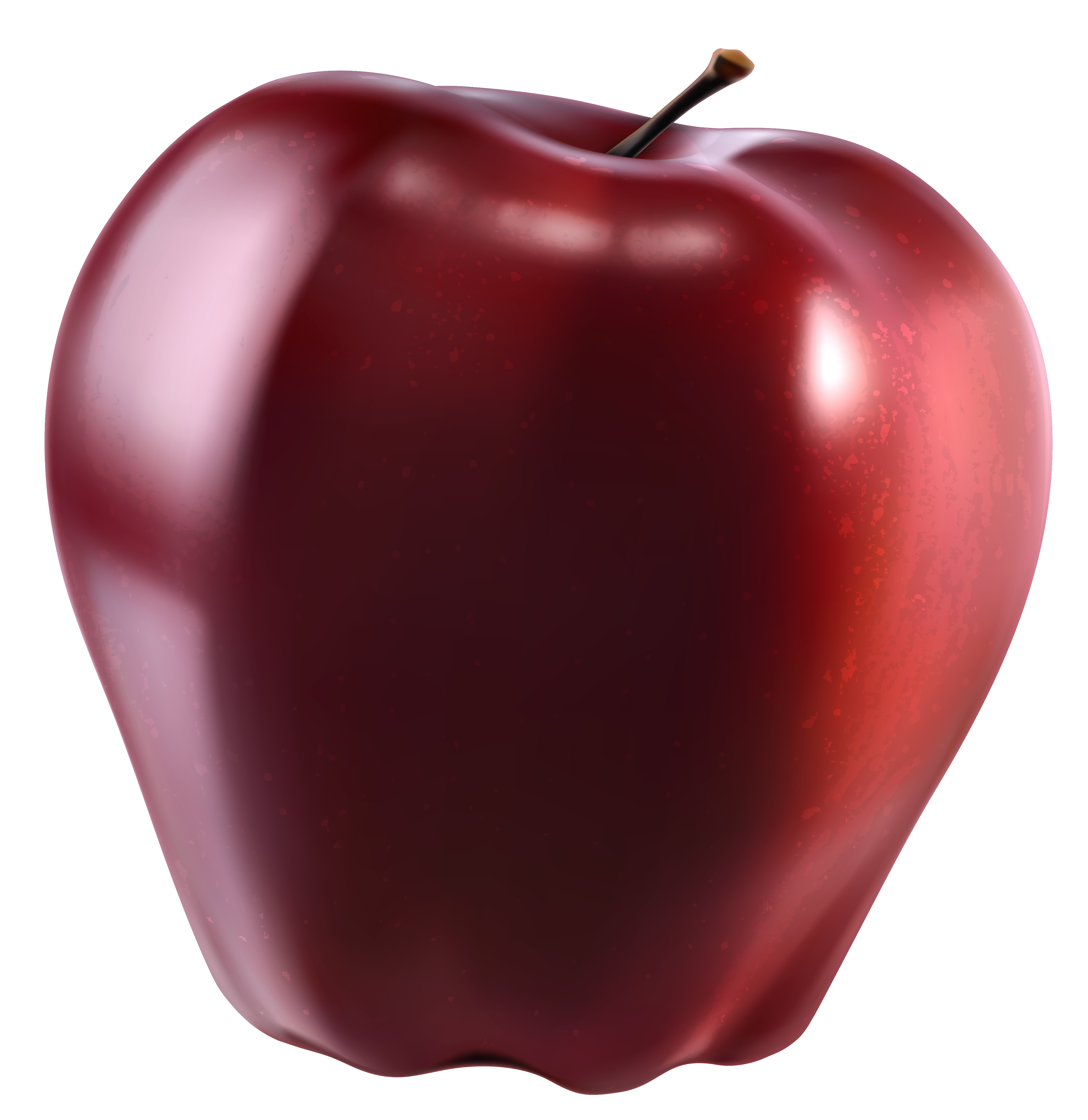 Red Apple PNG Clipart Picture.