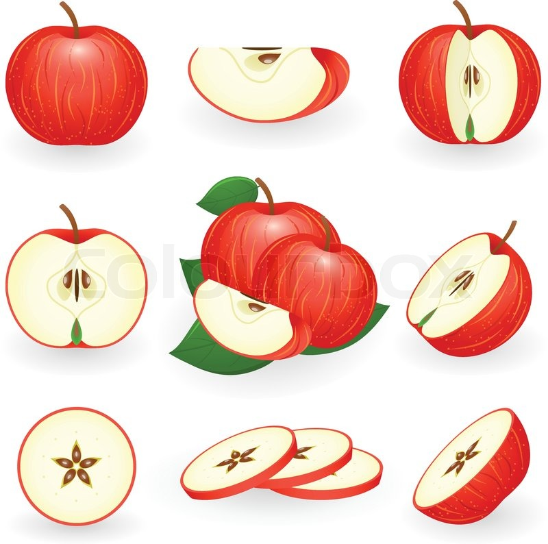 Apple slice clipart 5 » Clipart Station.
