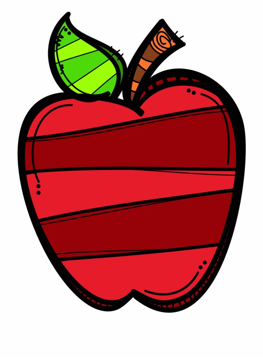 Chalk Apple Clipart.