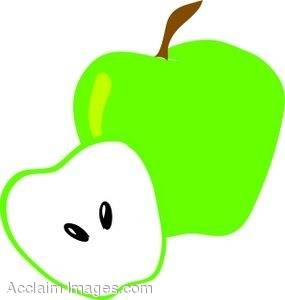 Clipart Illustration of Green Apples.