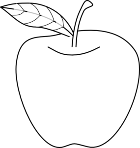 Apple Shaped Template.