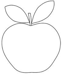 apple shape clipart to colour, 12cm.
