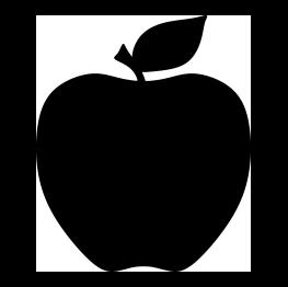 FREE SVG Apple Silhouette.