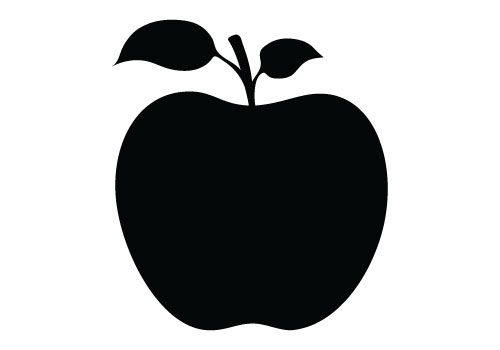 Apple Silhouette Vector Free Download.