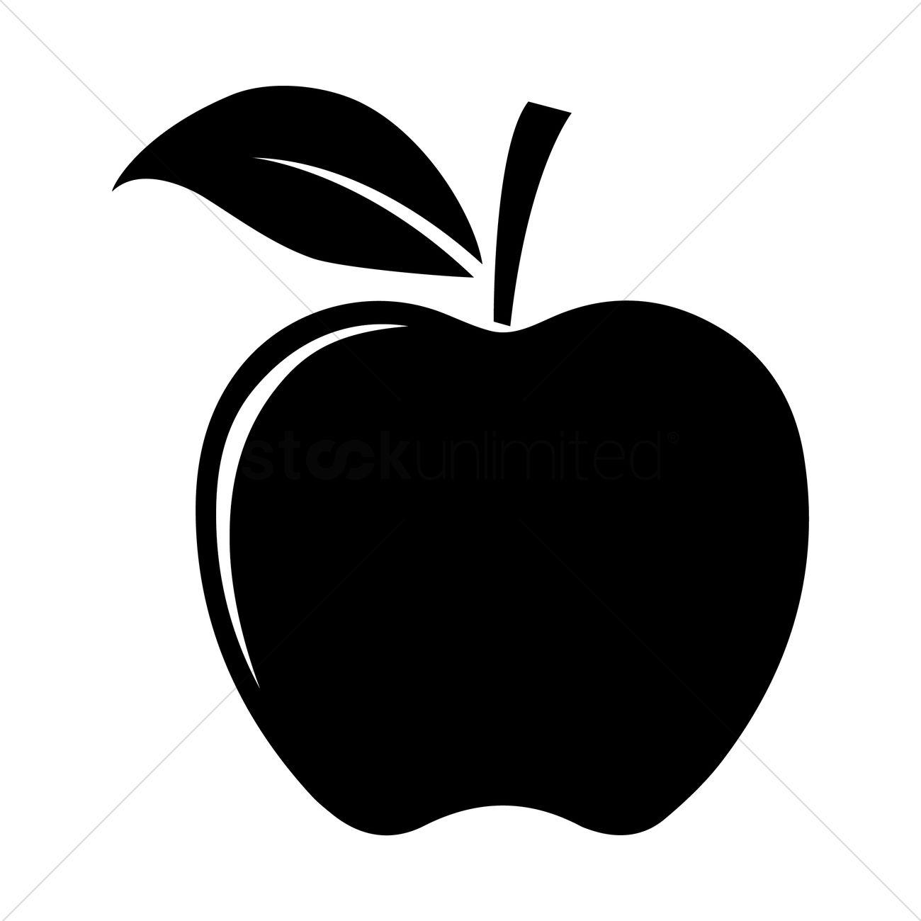 Apple silhouette Vector Image.
