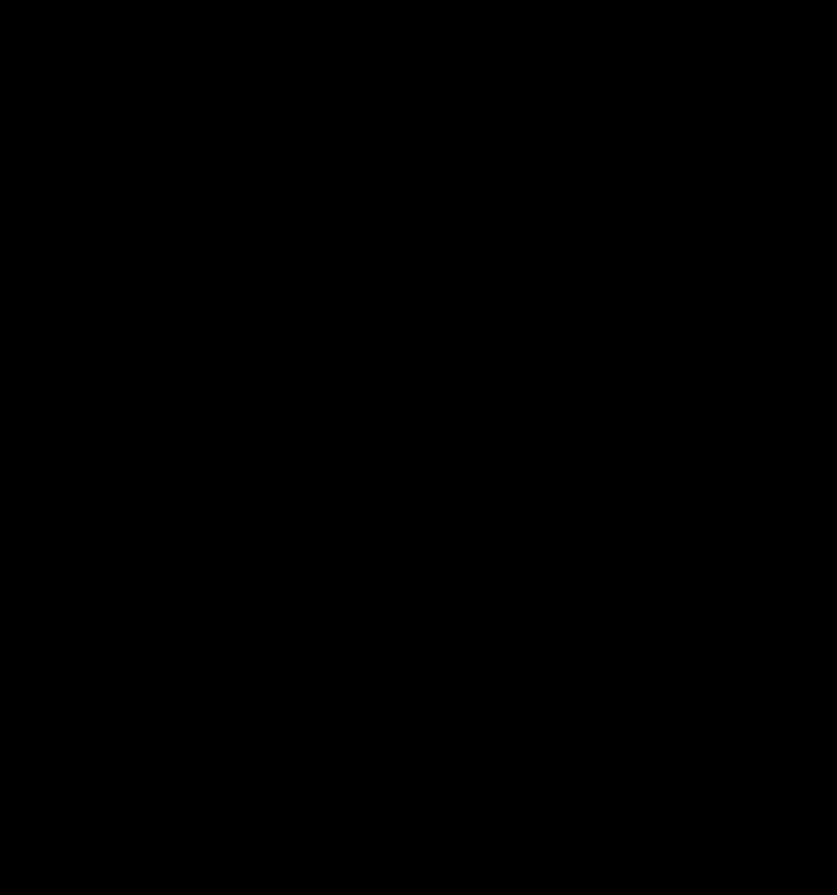 Apple Black Fruit Silhouette PNG.