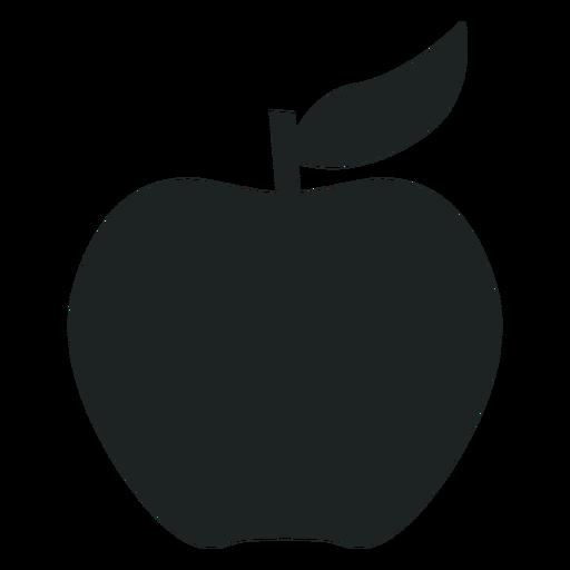 Apple silhouette icon.