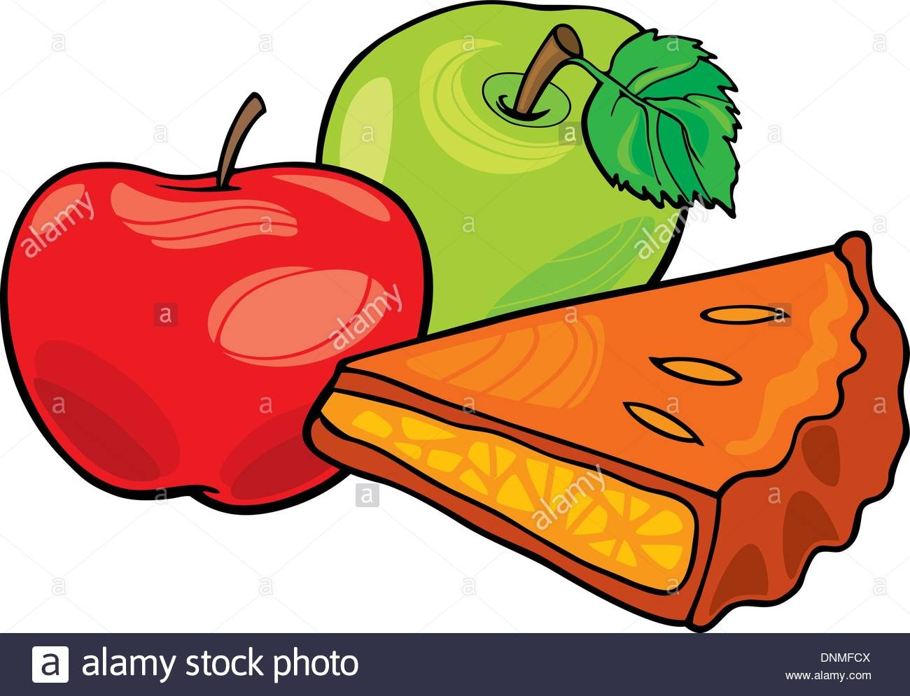 Within Apple Tart Clipart Illustration Of Apples And Pie DNMFCX.