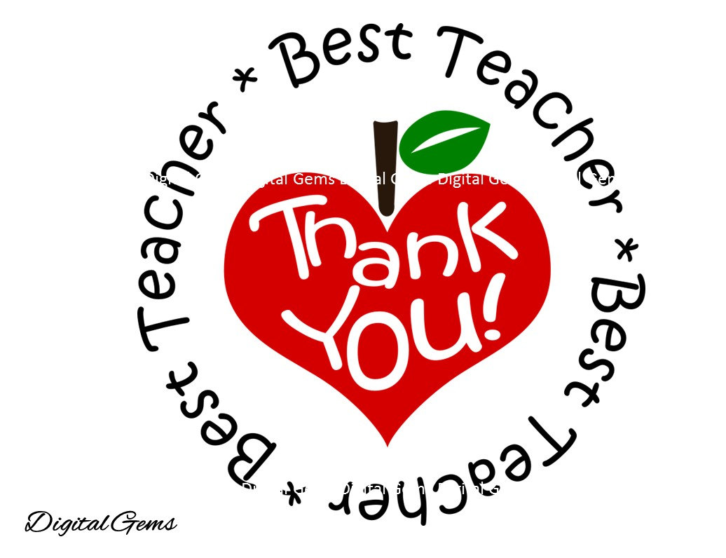Teacher Thank You Clipart.
