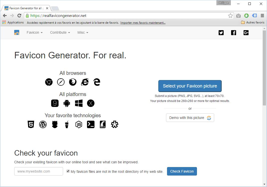 Favicon's blog.