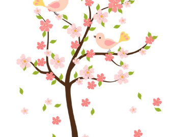 Blooming Apple Tree Clip Art.