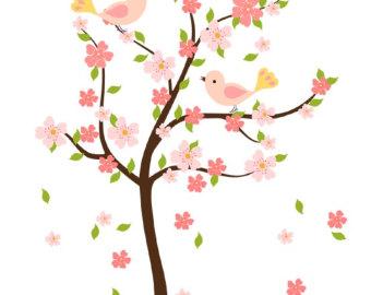 Blooming Apple Tree Clip Art.