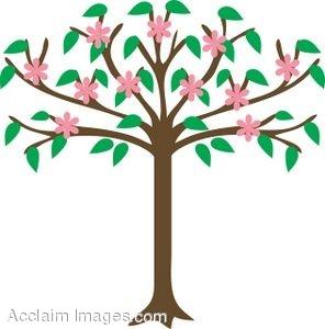 Clip Art Apple Trees in Bloom.