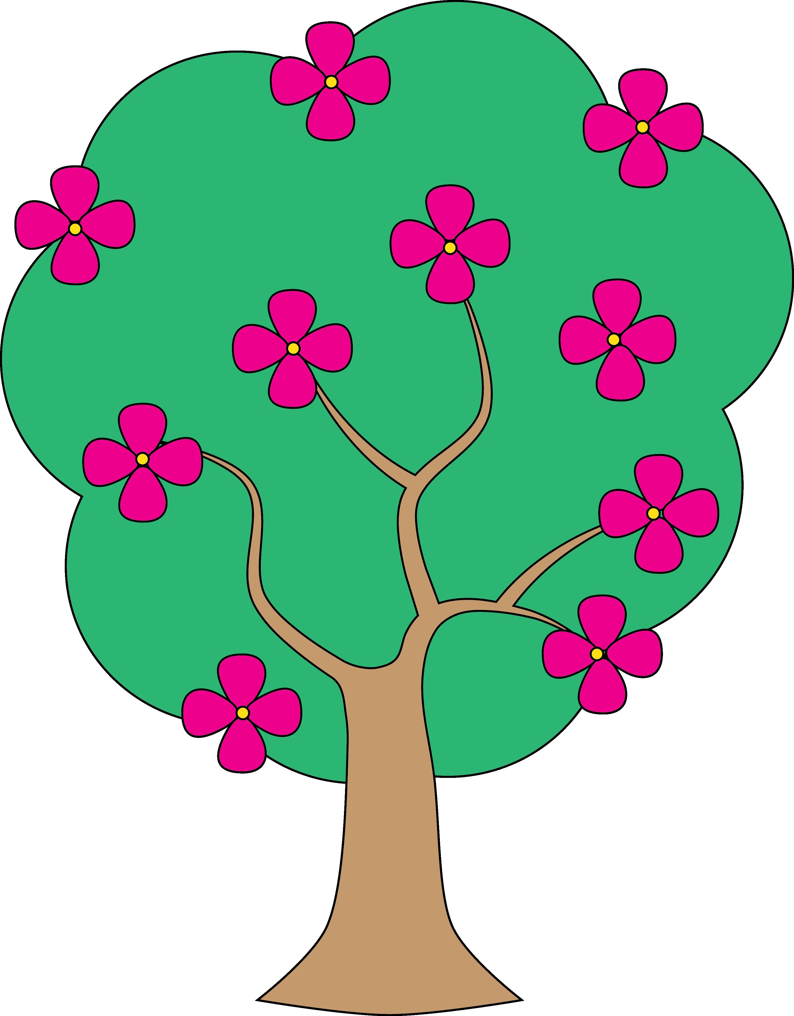 Apple tree flowers clipart.