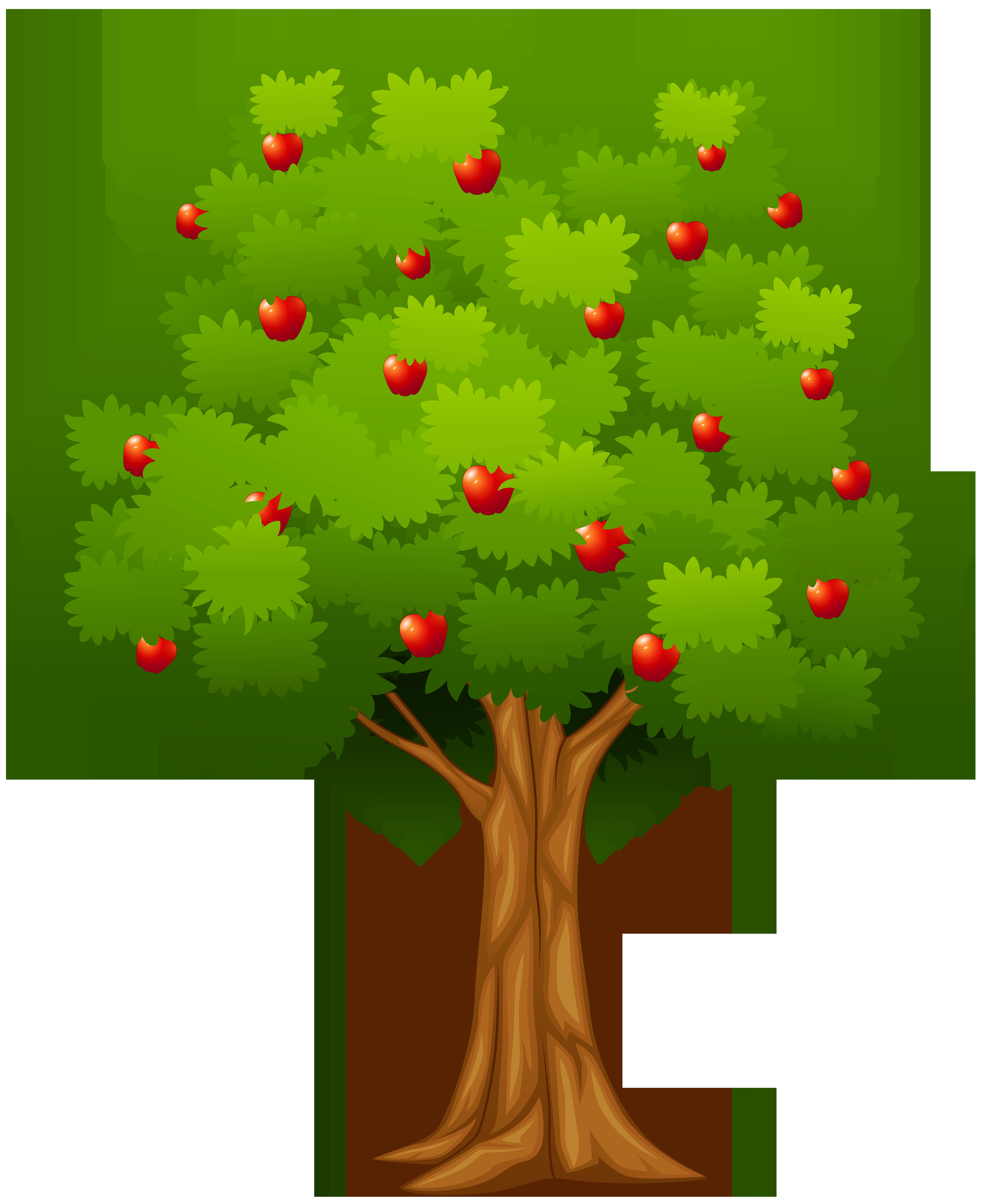 Apple Tree PNG Clip Art Image.