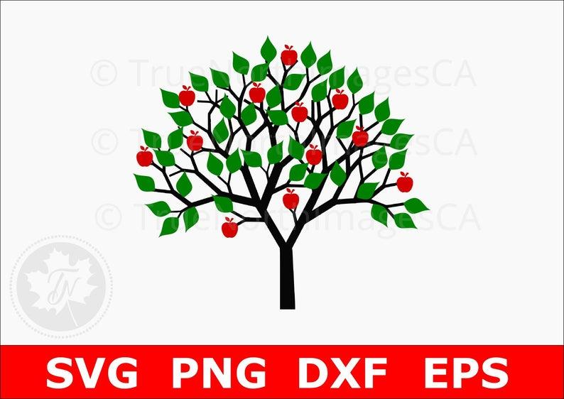 Apple Tree SVG / Tree SVG / Tree Clipart / Tree Clip art / Tree Vector /  Apple SVG / Apple Clipart / Files For Cricut / Silhouette Files.